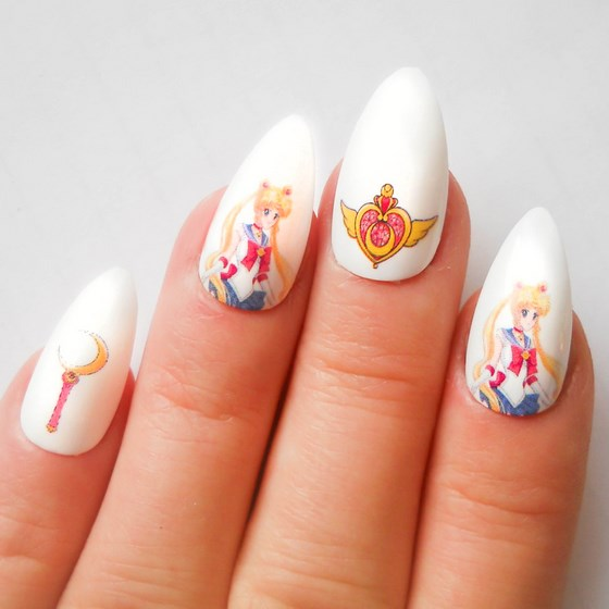 uñas sailor moon artificiales