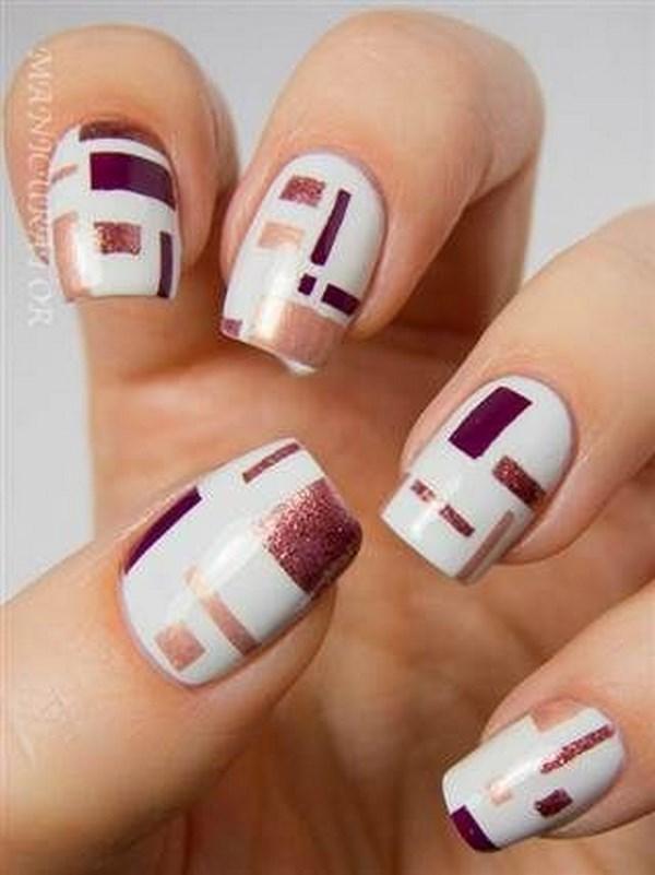arreglo de uñas con cuadrados