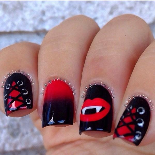 colmillos diseño para uñas