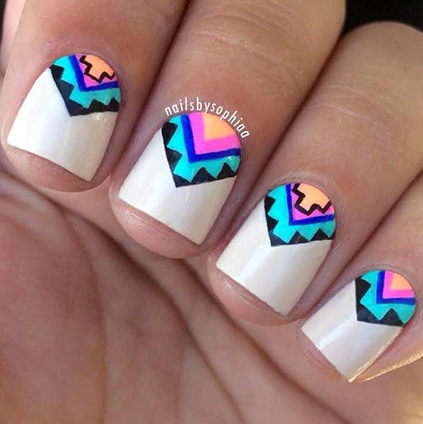 figuras para uñas geometricas con colores