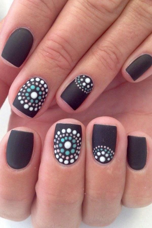 figuras para uñas negro y blanco