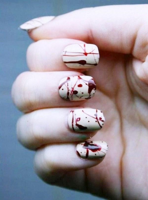 uñas de sangre geniales para halloween