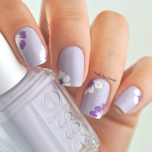 uñas decoradas con tonos pastel