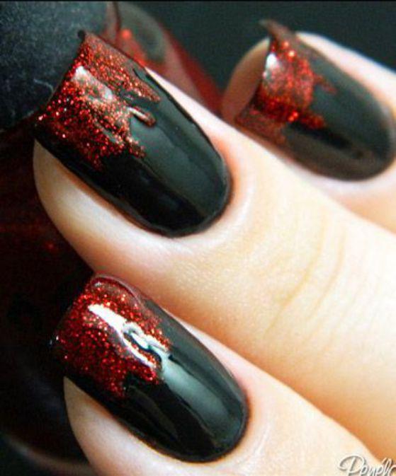 unas-sangre-negro-y-rojo-acrilicas
