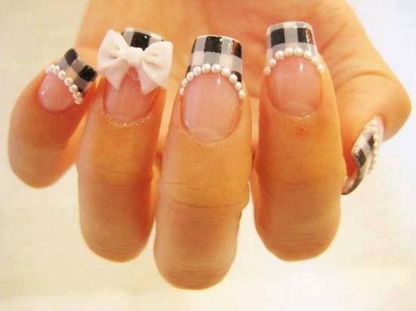 cuadricula en uñas con objetos 3D