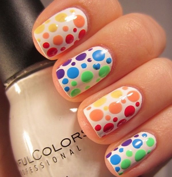 decoracion de uñas de colores