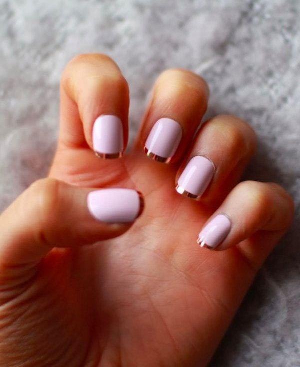 decoracion de uñas tipo francesa