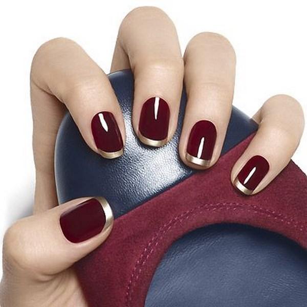 diseños de uñas tipo francesa