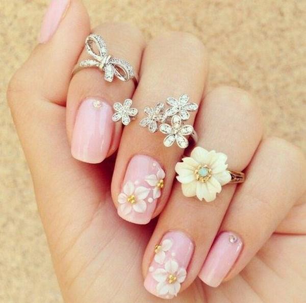 flores en 3d para las uñas