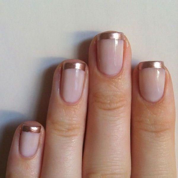 sencillas uñas francesas