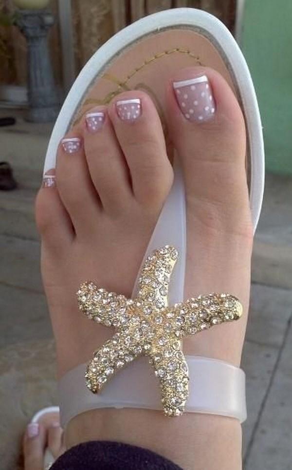 uñas para pies tipo francesa