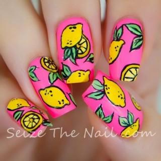 Unos bonitos diseños de uñas de frutas – fruit nail design