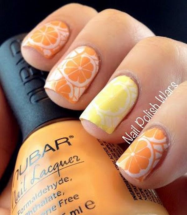 pegatinas de manzana para uñas