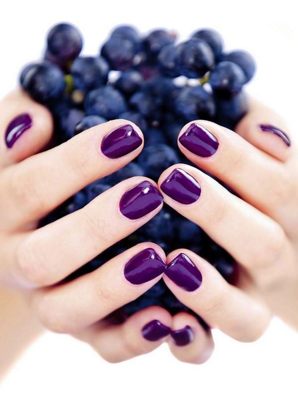 uñas color fruta