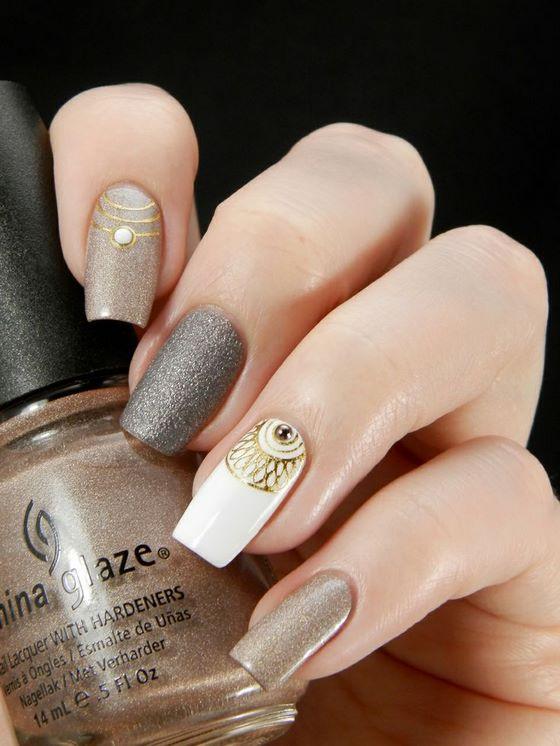 Hermosos dise os de u as estampadas stamped nail art for Nuevos modelos de unas