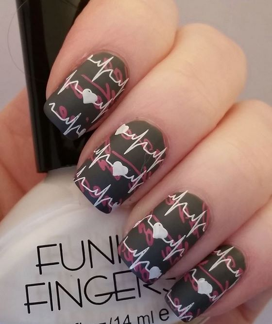 hearth stamping nail art