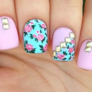 Tutoriales paso a paso de uñas con flores – Flower Nail Art