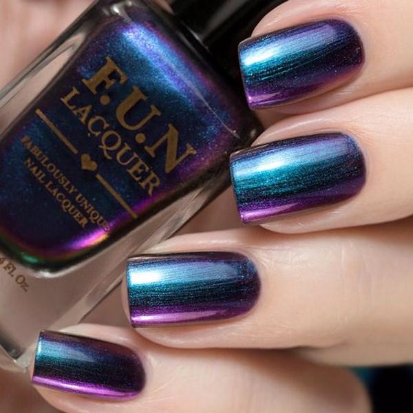 uñas metalizadas de colores