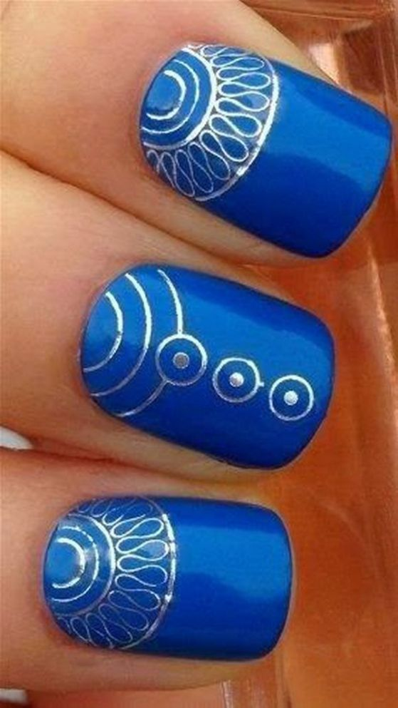 uñas color azul 2016
