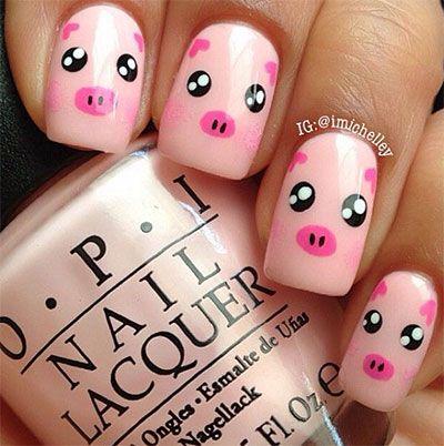 cerdito uñas