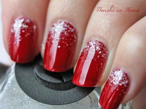 decoracion en rojo con escarcha