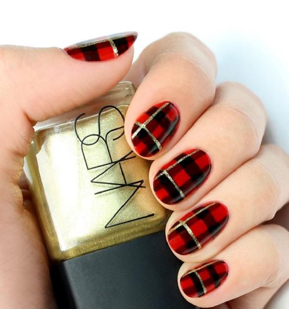 decoracion rojas con negro y dorado
