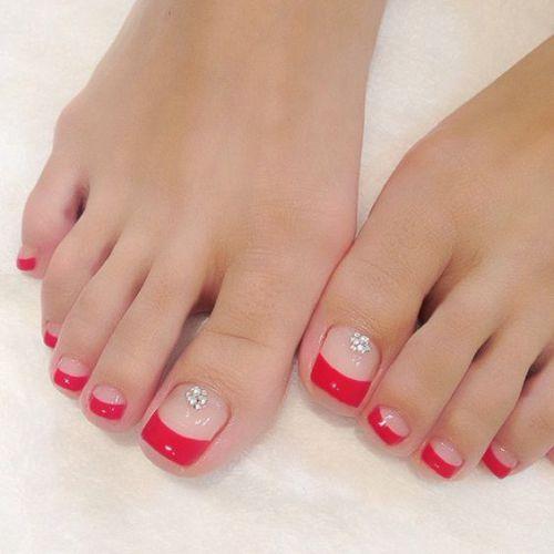 navidad uñas pies