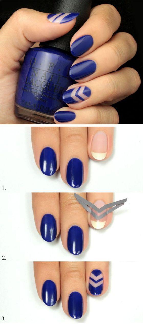 uñas azules tutorial