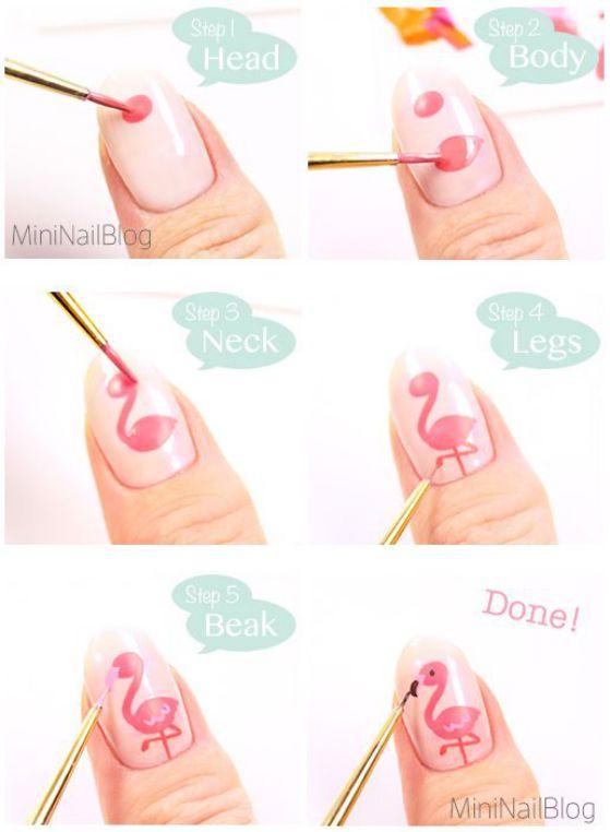uñas con diseño de animales