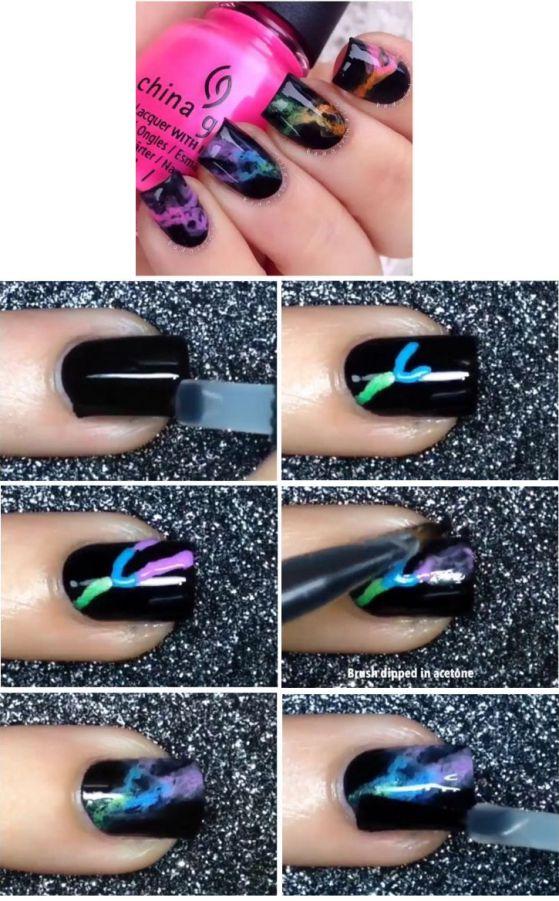 uñas de colores tutorial