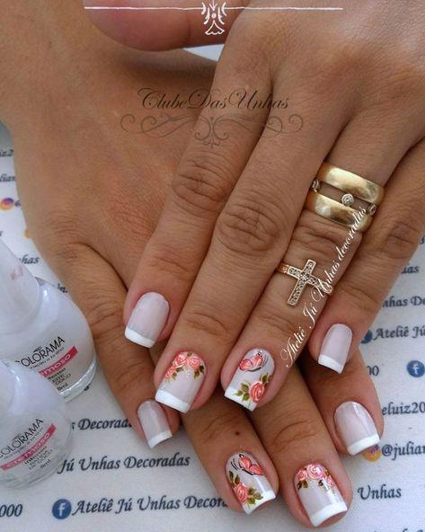 Uñas Decoradas Con Flores Diseños Sencillos Y Elegantes