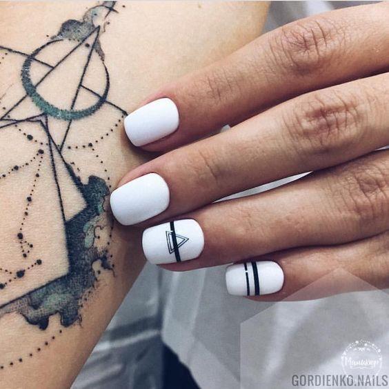Uñas Blancas Decoradas Diseños Y Combinaciones Tendencia