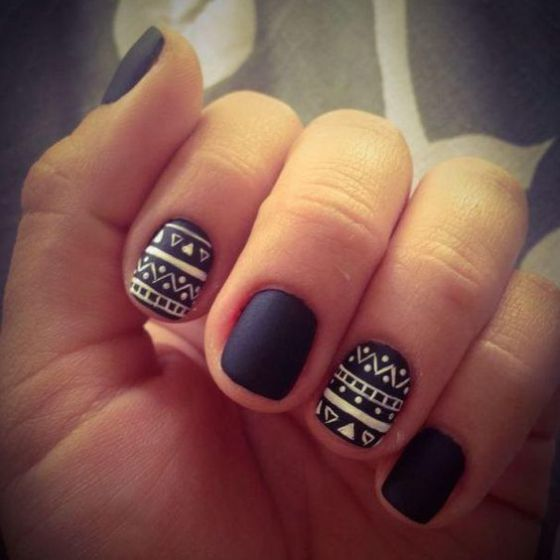 estilo tribales uñas naturales