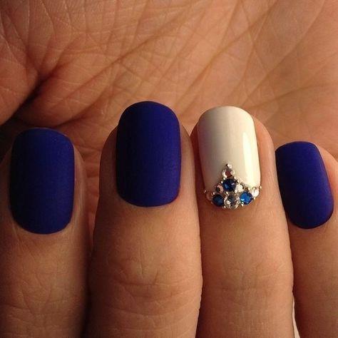 Unas Color Azul Pavo Unpasticheorg