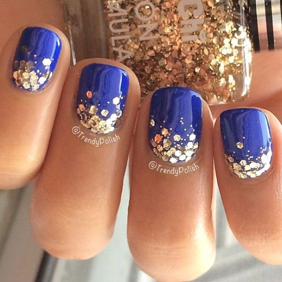 Uñas Azules Decoradas Diseños Combinaciones Para Toda Ocasion