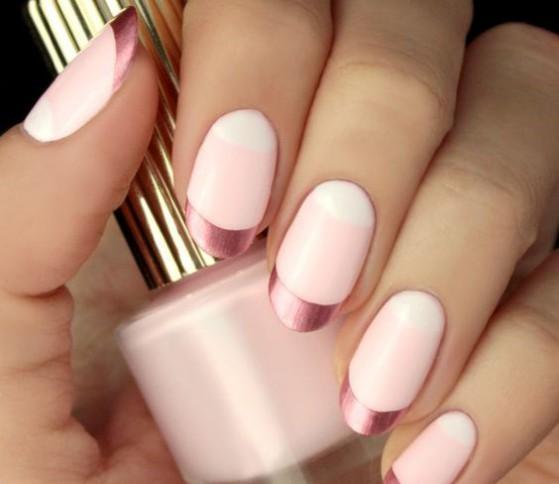 uñas color rosa largas
