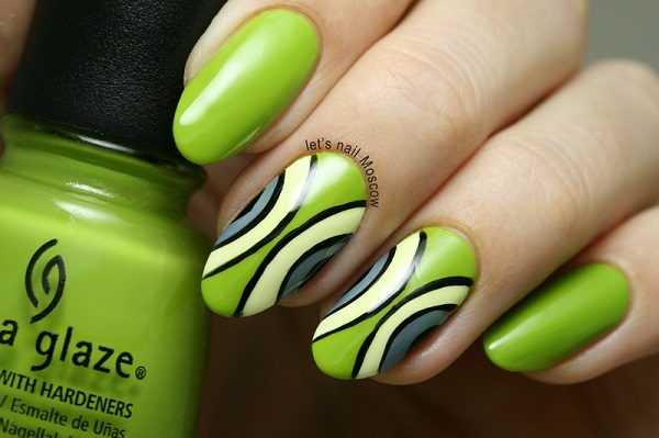 uñas verdes cortas