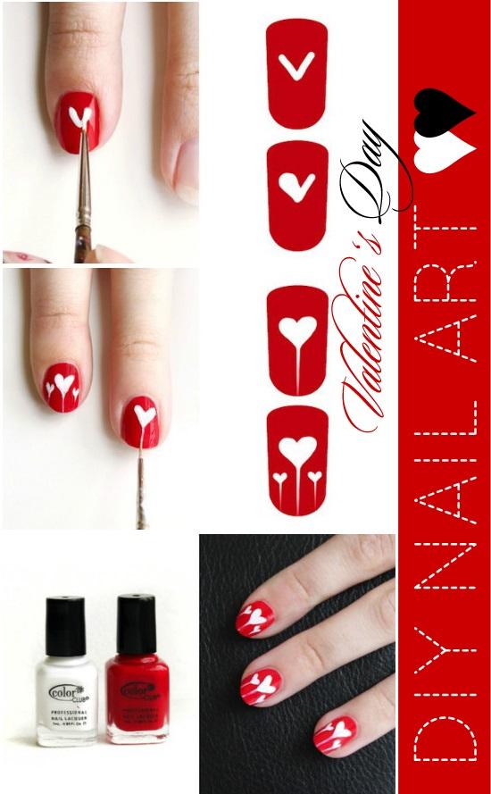 decoracion de uñas con corazones