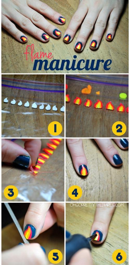 decoracion de uñas con stickers