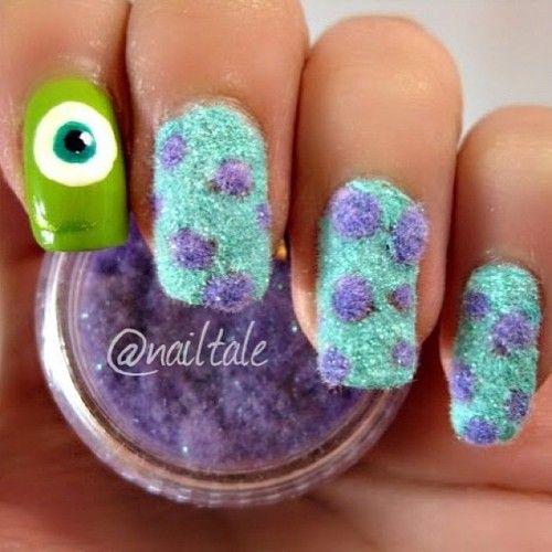 diseños de uñas de pelicula