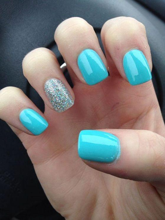 uñas acrilicas azules