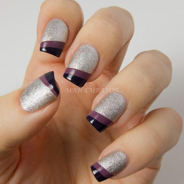 uñas acrilicas color plata