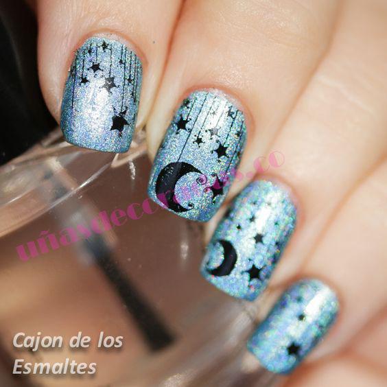 uñas de luna pintadas