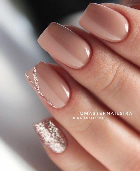 Sparkly Neutral And White Nail Art Design For Prom: UÑAS DORADAS Diseños Elegantes Y Combinaciones Geniales
