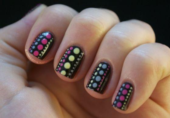 uñas pintadas con stickers