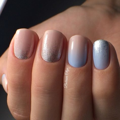 Uñas Azul En Degrade (5)