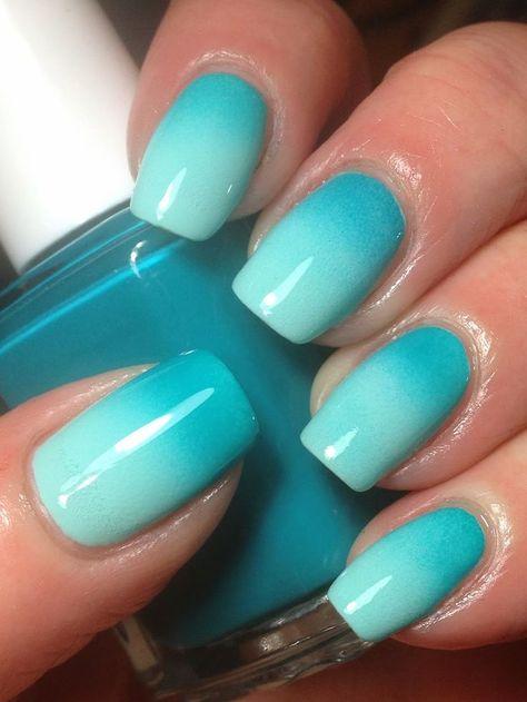 Uñas Azul En Degrade (8)