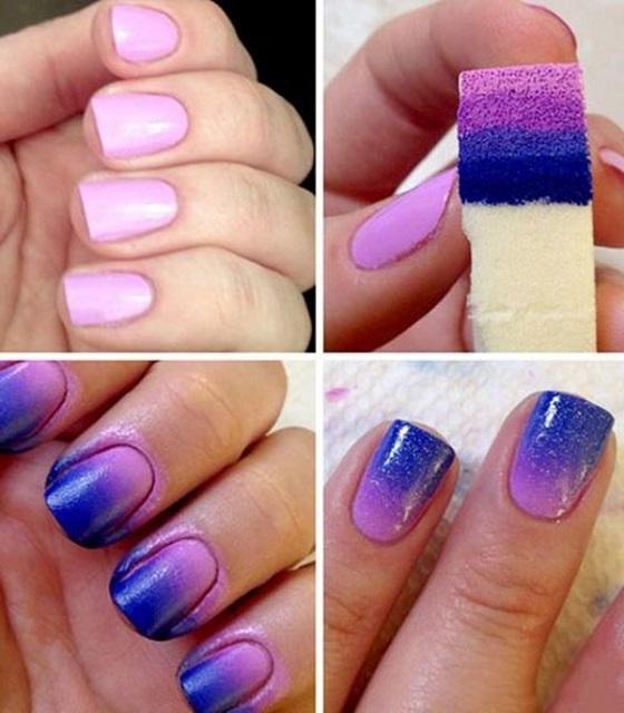 pintar uñas en degrade