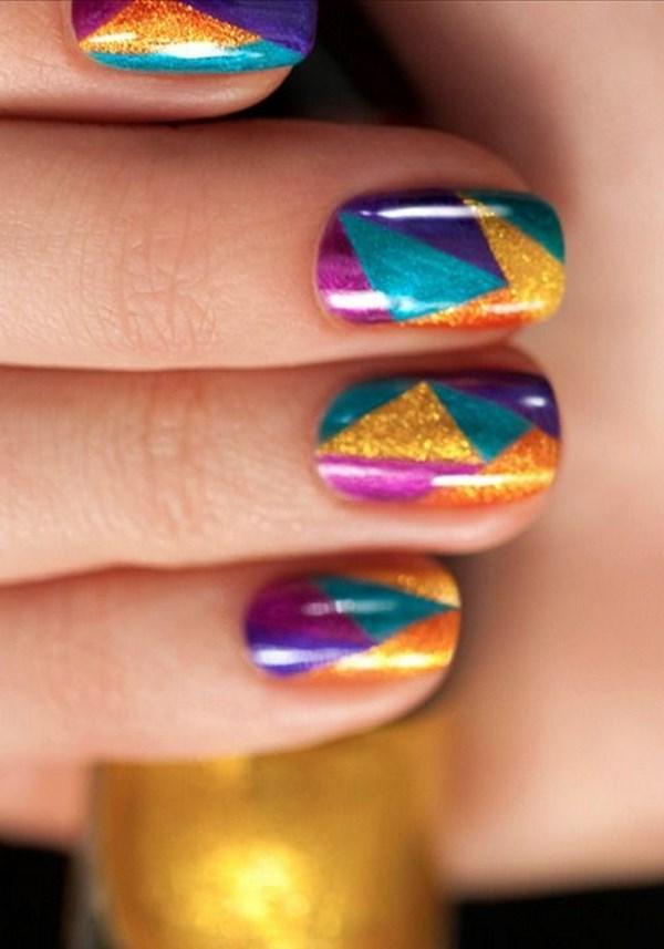 arreglo de uñas de colores