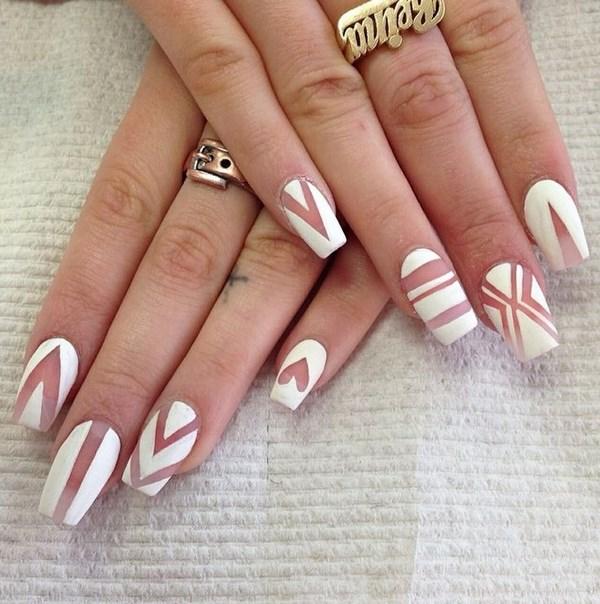 arreglo de uñas en negativo